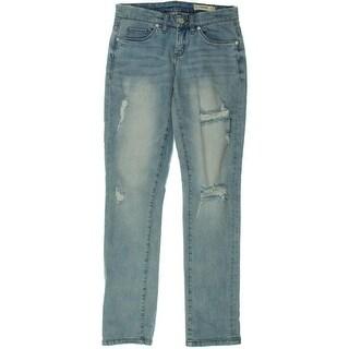 Blank NYC Womens Boyfriend Jeans Denim Distressed