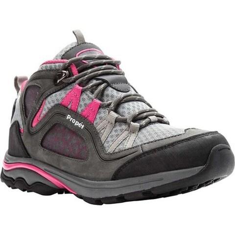 Propet Women's Peak Hiking Boot Grey/Berry Mesh/Nubuck
