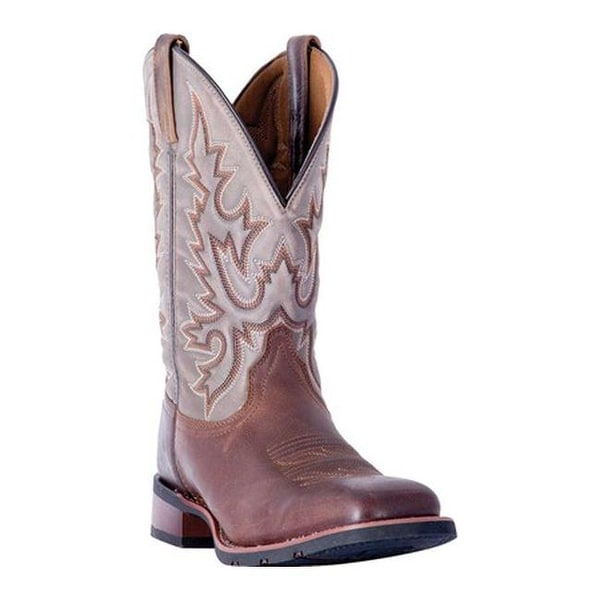7bead28848b Shop Laredo Men s Heath Cowboy Boot 7807 Dark Brown Gray Leather ...