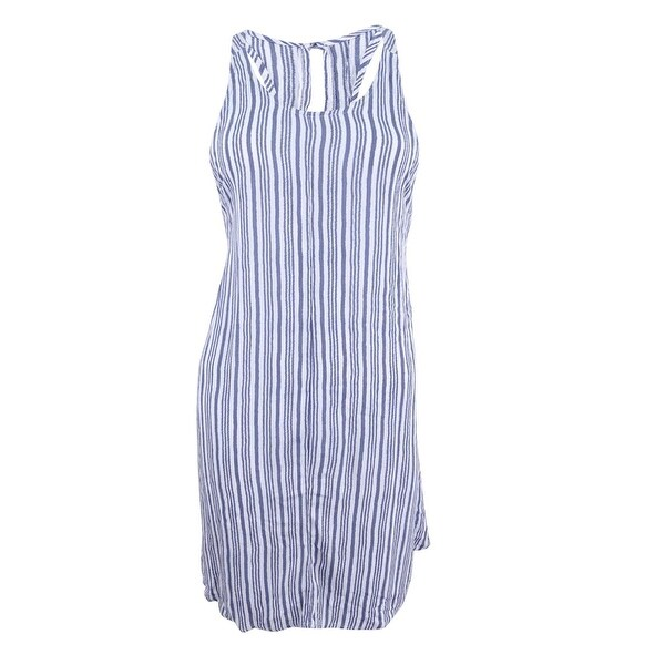 8c19f2570e7 Shop O'Neill Women's Tilly Striped Racerback Cover-Up (S, Mist) - Mist - S  - On Sale - Free Shipping On Orders Over $45 - Overstock - 22090118