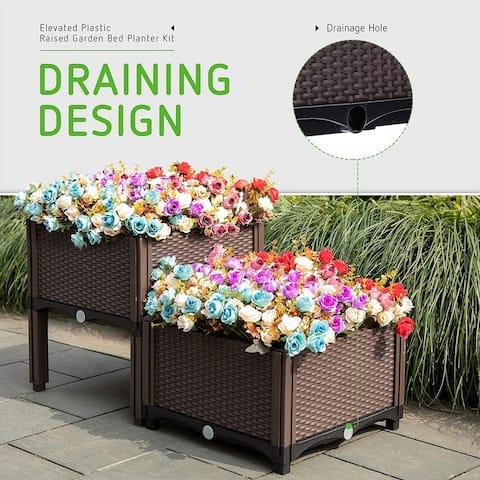 DIY Elevated Garden Vegitable and Flower Planter Box Kit - 1Set
