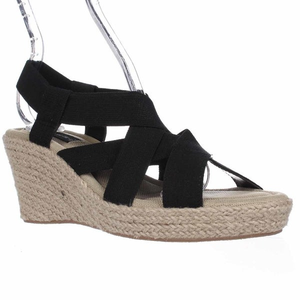 STEVEN by Steve Madden Janenn Espadrille Wedge Sandals, Black