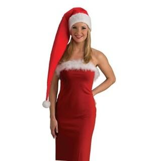 Long Felt Santa Costume Hat Adult Women - Red
