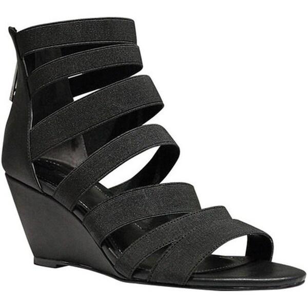 0b50ac584aa ... Women s Shoes     Women s Sandals. Charles by Charles David  Women  x27 s Hamburg Strappy Wedge Sandal Black Elastic