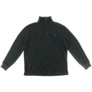 Polo Ralph Lauren Mens Mock Sweater Ribbed 1/4 Zip