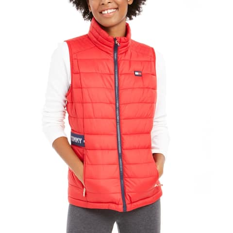 Tommy Hilfiger Womens Outerwear Vest Winter Water rR - Red