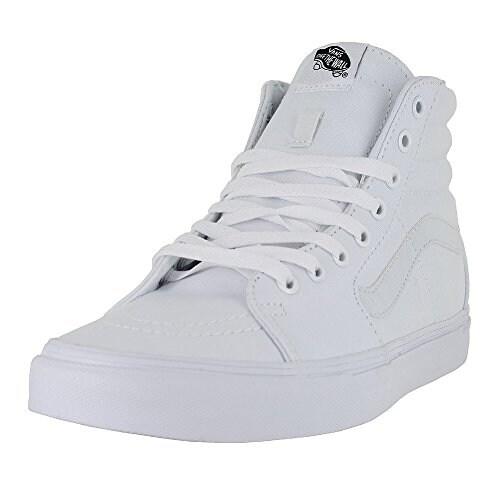 Vans Men's Sk8-Hi Skate Shoe (12 B(M) US Women/10.5 D(M) US Men, White Canvas)