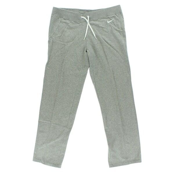 Shop Nike Womens Club Fleece Pants Grey Grey White L