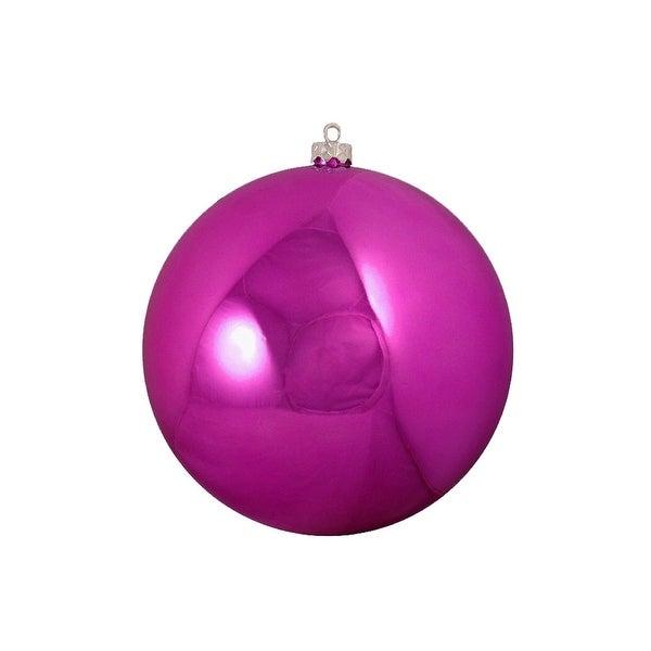 "Shatterproof Shiny Magenta Pink Christmas Ball Ornament 6"" (150mm)"