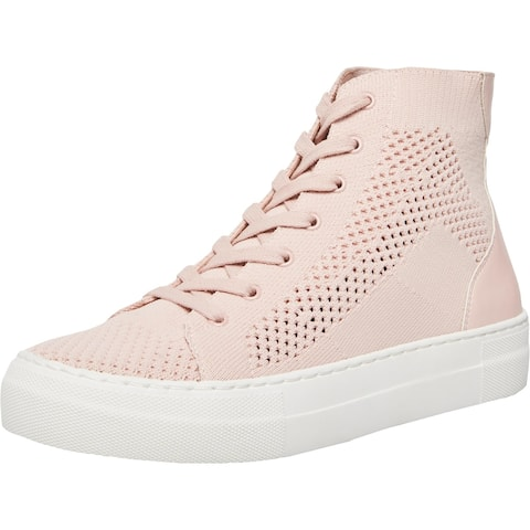 Madden Girl Womens Bosss Fashion Sneakers Knit High-Top - Blush Knit - 8 Medium (B,M)