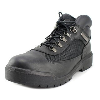 Timberland Hommes Men  Round Toe Leather Black Combat Boot