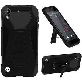 Insten Hard PC/ Silicone Dual Layer Hybrid Case Cover with Stand For HTC Desire 530