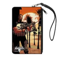The Punisher 2014 Issue #1 M16 Beach Sunset Variant Cover Pose Canvas Canvas Zipper Wallet