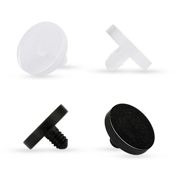 10 Pcs Acrylic Dermal Anchor Retainer Pack - 14GA