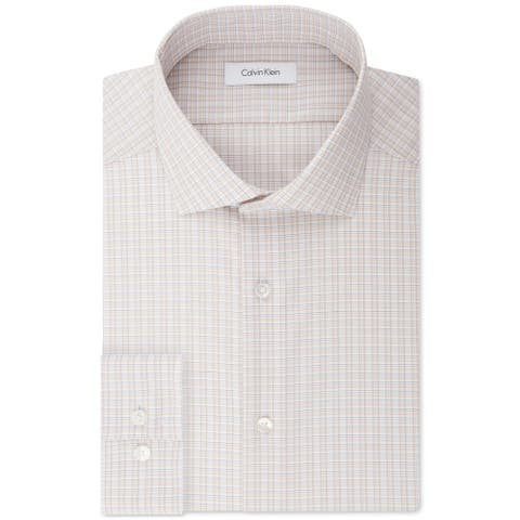 Calvin Klein Mens Slim Fit Button Up Dress Shirt