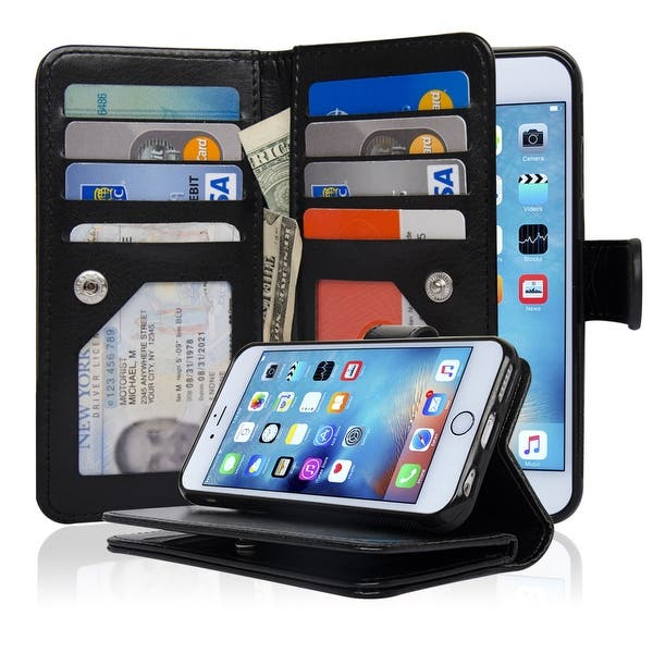 c54f10d807b 4.7-inch iPhone 6/6S Case Detachable Magnetic Housing Synthetic Leather Wallet  Case Microfiber Layer to Protect Screen IP63