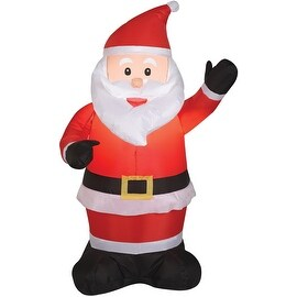 Gemmy 87644 Airblown Outdoor Santa Claus, 4'