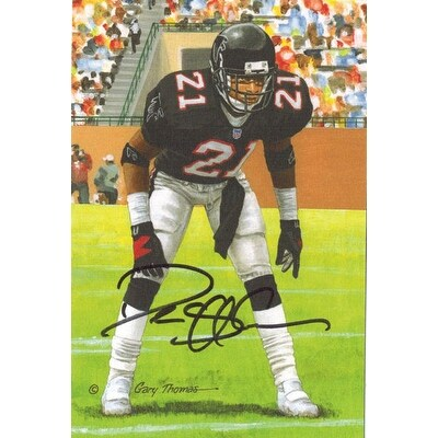 f836a5e1dd0 Shop Deion Sanders Autographed Atlanta Falcons Goal Line Art in Black -  Free Shipping Today - Overstock - 13485933