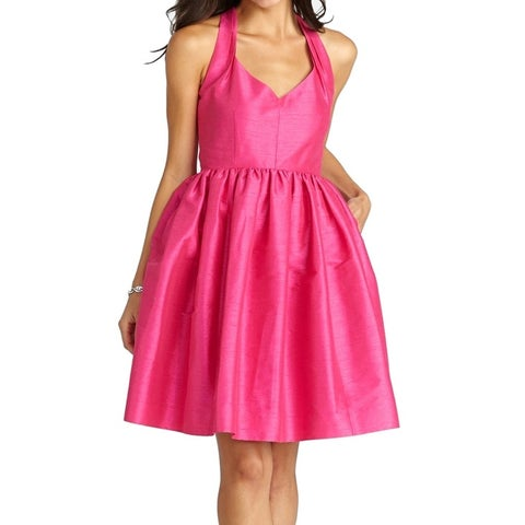 Donna Morgan Pink Womens Size 6 A-Line Shantung Fit & Flare Dress