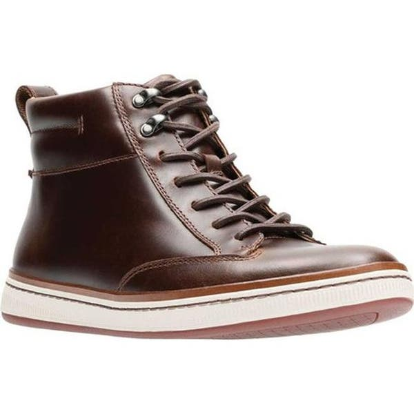 precio atractivo precio asombroso comprar auténtico Shop Clarks Men's Norsen Mid High Top Dark Tan Full Grain Leather ...