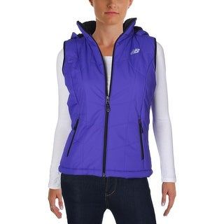 New Balance Womens Outerwear Vest Faux Fur Quilted