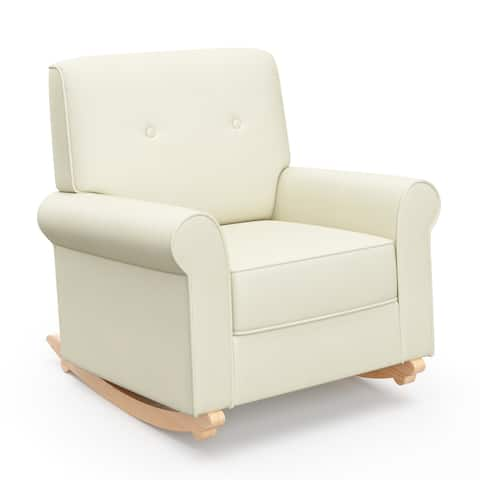 Graco Harper Tufted Convertible Rocker and Stationary Armchair