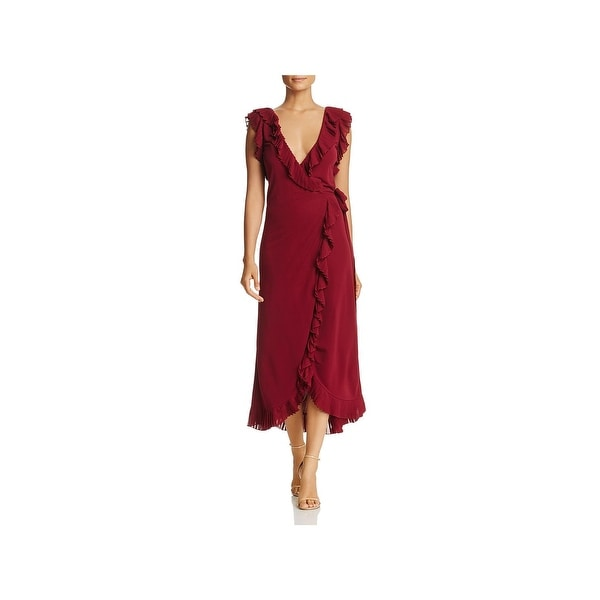 6ccd728ac4a Shop Tory Burch Womens Whitney Wrap Dress Pleated Ruffle - Free ...