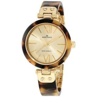 Anne Klein Women's 10-9652CHTO Gold Plastic Quartz Dress Watch