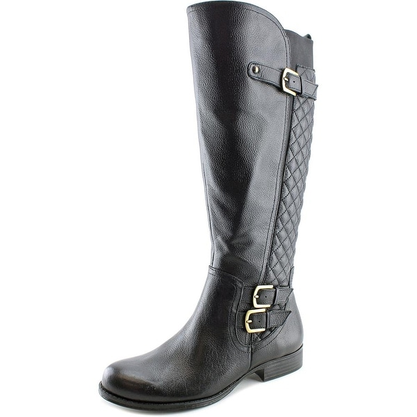 Naturalizer Jamon Wide Calf Women W Round Toe Leather Knee High Boot