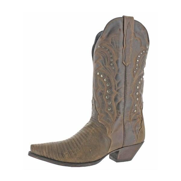 89fac35d169 Dan Post Womens Talisman Cowboy, Western Boots Leather Snake Print - 10  medium (b,m)