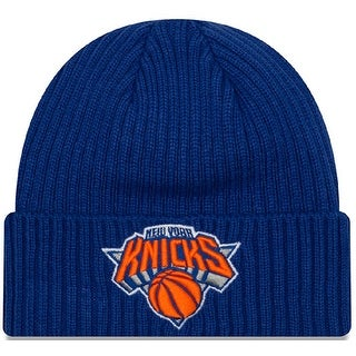 New Era Unisex Core Classic Knit New York Knicks Beanie, Adult, Blue, Os - Blue