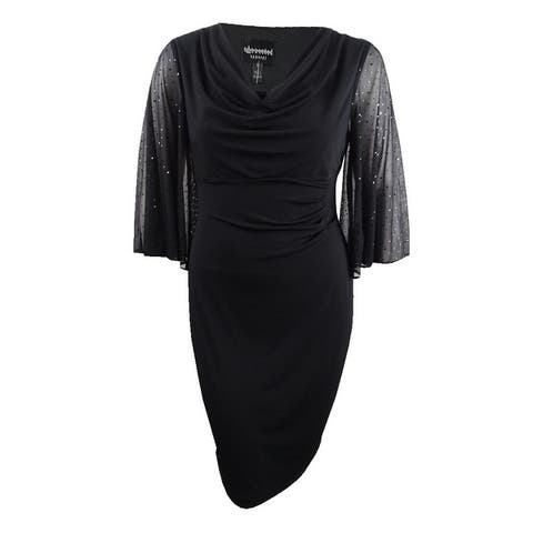 Connected Women's Cowl-Neck Statement-Sleeve Dress