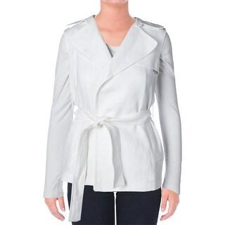 Theory Womens Katara Linen Solid Vest