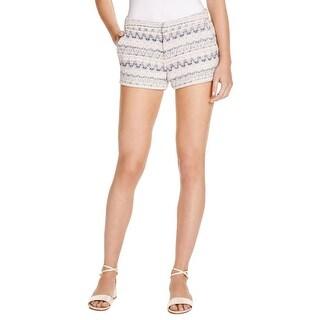 Joie Womens Merci Casual Shorts Tweed Metallic