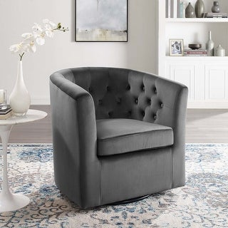 Link to Prospect Tufted Performance Velvet Swivel Armchair Similar Items in Accent Chairs