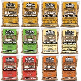 Smokehouse All Natural Flavored Wood Chunks 12 Pack Assorted 9791-010-0000
