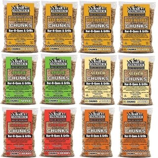 Smokehouse All Natural Flavored Wood Chunks 12 Pack Assorted - 9791-010-0000
