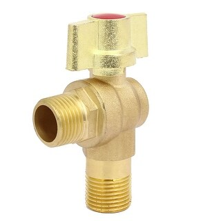 1/2BSP Thread Brass 2-Way Quarter Turn Wing Knob Angle Water Stop Valve