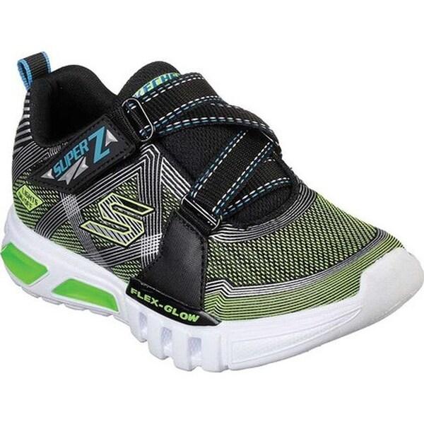Shop Skechers Boys' S Lights Flex Glow Parrox Sneaker Black