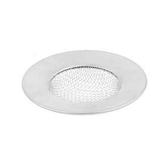"Unique Bargains Kitchen Bath Basin Sink Strainer Drain Stopper Silver Tone 2.5"" Dia"