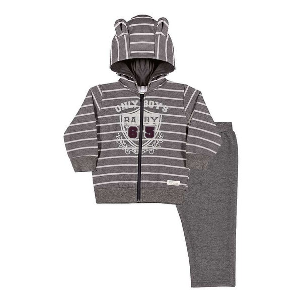 Baby Boy Outfit Hoodie Jacket and Sweatpants Set Pulla Bulla Sizes 3-12 Months