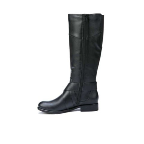 LifeStride Womens Reezy Fabric Almond Toe Mid-Calf Riding Boots - 5.5