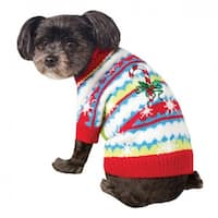 Ugly Christmas Dog Sweater - Cute Candy Cane - X-Large