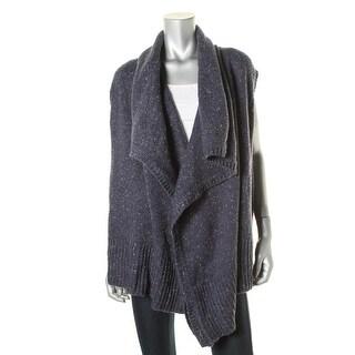 DKNY Jeans Womens Knit Ribbed Trim Cardigan Sweater