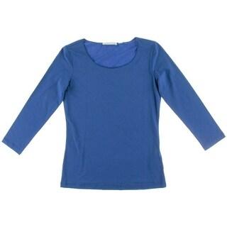 BOSS Hugo Boss Womens Solid Three-Quarter Sleeves Pullover Top