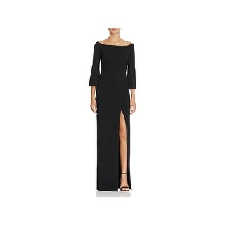 ABS Collection Womens Evening Dress Front Slit Off the Shoulder