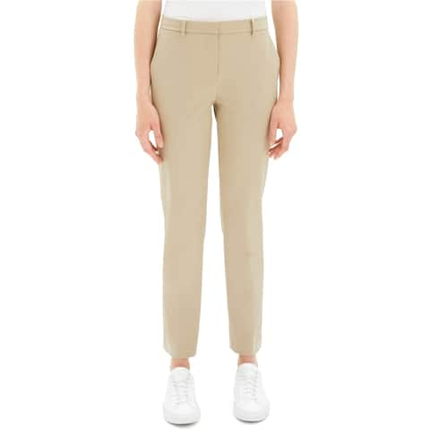 Theory Womens Tailored Dress Pants, beige, 6