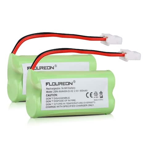 2X FLOUREON Sanik 2SN-AAA40H-S-X2 Battery 2.4V 400mAh Ni-MH