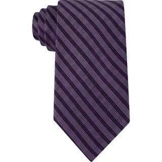 Calvin Klein Mens Neck Tie Silk Striped - o/s