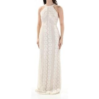 NIGHTWAY $129 Womens New 1291 Ivory Lace Glitter Sleeveless Sheath Dress 12 B+B